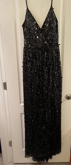 Sherri Hill Black Size 10 Prom Side slit Dress on Queenly