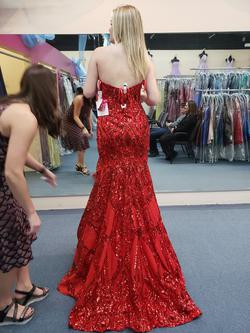 Mori Lee Red Size 12 Sweetheart Plus Size Mermaid Dress on Queenly
