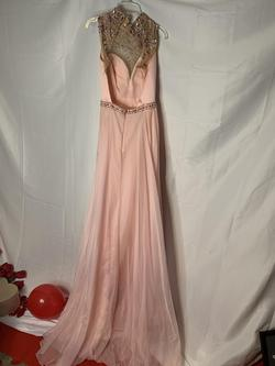 Sherri Hill Pink Size 0 Backless Train A-line Dress on Queenly