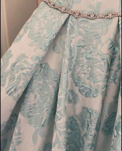 Lucci Lu Light Blue Size 2 Floral Ball gown on Queenly