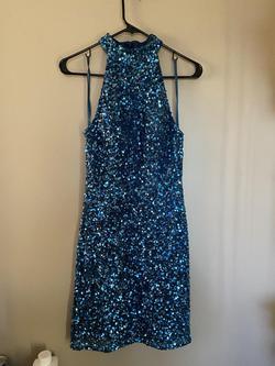 Queenly size 6 Ashley Lauren Blue Cocktail evening gown/formal dress