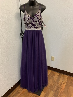 Queenly size 6  Purple A-line evening gown/formal dress