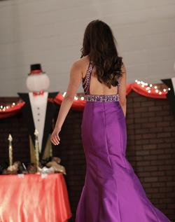 Rachel Allan Purple Size 2 Pageant Halter Sequin Mermaid Dress on Queenly