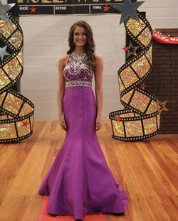 Queenly size 2 Rachel Allan Purple Mermaid evening gown/formal dress