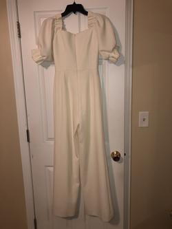 White Size 0 Jumpsuit Dress on Queenly