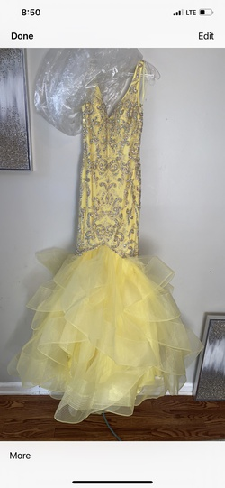 Queenly size 0 Colette Yellow Mermaid evening gown/formal dress
