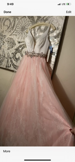 Rachel Allan Pink Size 4 Prom Plunge Ball gown on Queenly