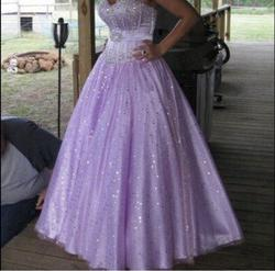 Tony Bowls Purple Size 6 Quinceanera Sweetheart Ball gown on Queenly