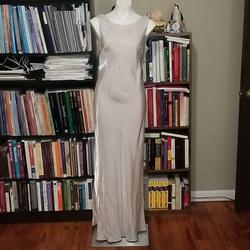 Queenly size 12 De Laru Silver Straight evening gown/formal dress