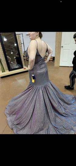 Royal Queen Silver Size 14 Plunge Pageant Mermaid Dress on Queenly