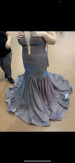 Queenly size 14  Silver Mermaid evening gown/formal dress