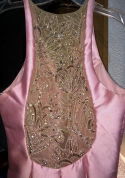 Rachel Allan Pink Size 4 Sequin Tall Height Fun Fashion Jumpsuit Dress on Queenly