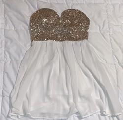 Queenly size 6  Gold A-line evening gown/formal dress