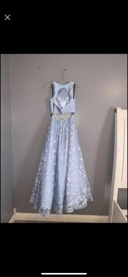 Blue Size 6 Ball gown on Queenly