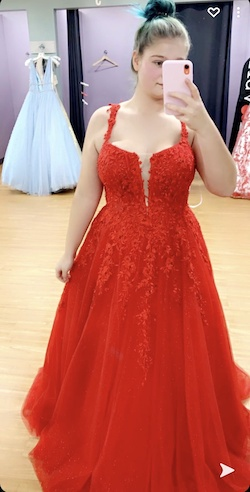 Queenly size 16  Red Ball gown evening gown/formal dress