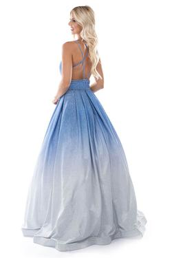Style 1480 Nina Canacci Blue Size 8 Tall Height Ball gown on Queenly