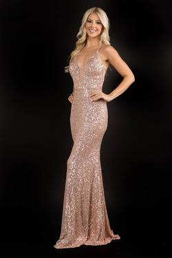 Queenly size 8 Nina Canacci Gold Straight evening gown/formal dress