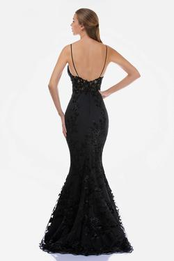 Style 2240 Nina Canacci Black Size 10 Backless Tall Height Lace Mermaid Dress on Queenly
