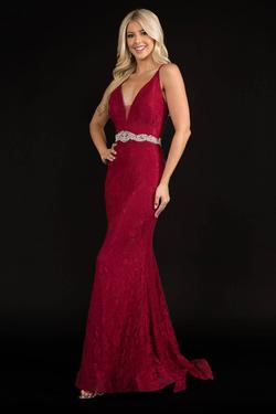 Style 2295 Nina Canacci Red Size 4 Belt Backless Tall Height Straight Dress on Queenly