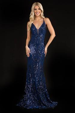 Queenly size 4 Nina Canacci Blue Mermaid evening gown/formal dress