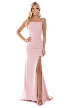 Queenly size 6 Nina Canacci Pink Side slit evening gown/formal dress