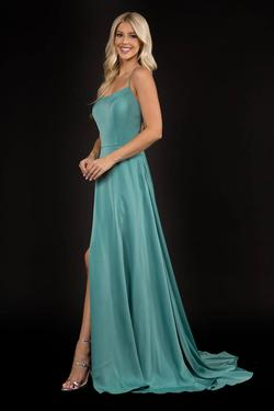 Style 6548 Nina Canacci Green Size 8 Prom Side slit Dress on Queenly