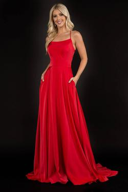 Style 6548 Nina Canacci Red Size 4 Tall Height Side slit Dress on Queenly
