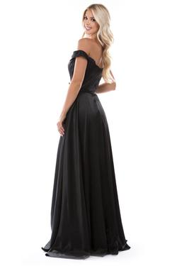 Style 6550 Nina Canacci Black Size 6 Pageant Tall Height Side slit Dress on Queenly