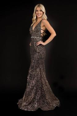 Style 8197 Nina Canacci Black Size 4 Corset Tall Height Mermaid Dress on Queenly