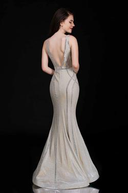 Style 1471 Nina Canacci Gold Size 2 Prom Pageant Backless Tall Height Mermaid Dress on Queenly