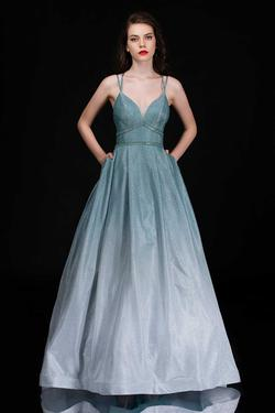 Style 1480 Nina Canacci Green Size 16 Prom Pageant A-line Dress on Queenly