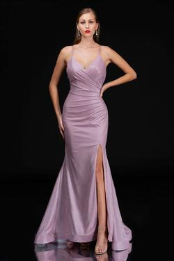 Queenly size 4 Nina Canacci Pink Side slit evening gown/formal dress