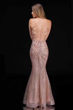 Style 1487 Nina Canacci Gold Size 4 Corset Tall Height Mermaid Dress on Queenly