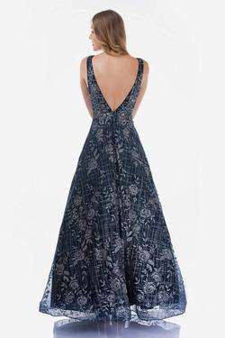 Style 1491 Nina Canacci Silver Size 8 Backless Floral A-line Dress on Queenly