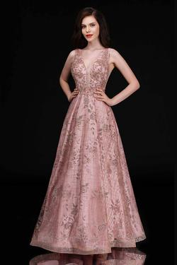 Queenly size 12 Nina Canacci Pink A-line evening gown/formal dress