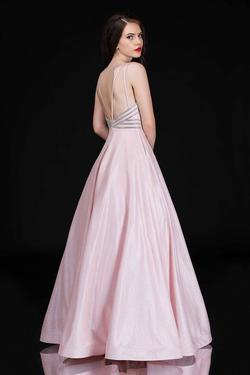 Style 1498 Nina Canacci Pink Size 8 Backless Plunge Ball gown on Queenly