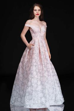 Style 1503 Nina Canacci Pink Size 10 Tall Height A-line Dress on Queenly