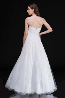 Style 1508 Nina Canacci White Size 6 Prom Wedding A-line Dress on Queenly