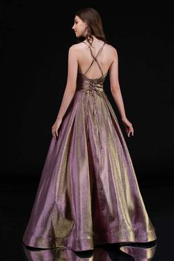 Style 1514 Nina Canacci Gold Size 10 Pageant Tall Height A-line Dress on Queenly