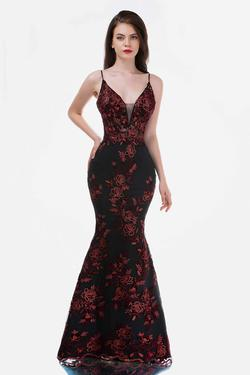 Queenly size 14 Nina Canacci Red Mermaid evening gown/formal dress