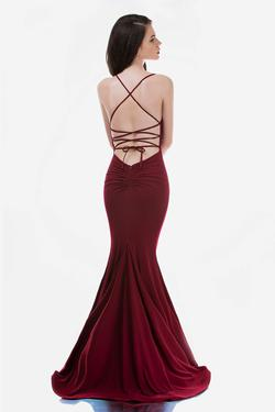 Style 2246 Nina Canacci Red Size 12 Corset Tall Height Mermaid Dress on Queenly