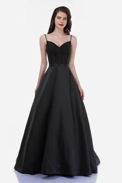 Style 2250 Nina Canacci Black Size 10 Tall Height Lace Ball gown on Queenly