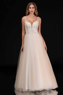 Style 2254 Nina Canacci Nude Size 6 Tall Height Pink Ball gown on Queenly