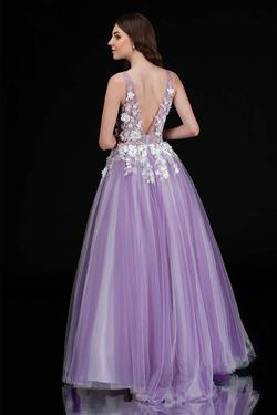 Style 2256 Nina Canacci Purple Size 4 Prom Ball gown on Queenly