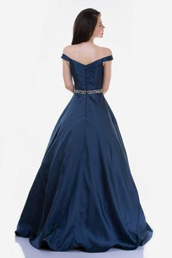 Style 2258 Nina Canacci Blue Size 12 Tall Height Ball gown on Queenly