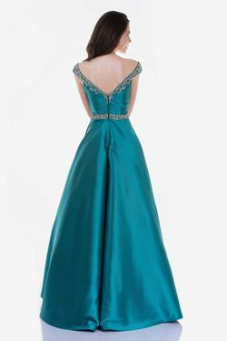 Style 2265 Nina Canacci Green Size 16 Plus Size Tall Height Ball gown on Queenly