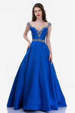 Style 2265 Nina Canacci Blue Size 10 Tall Height Ball gown on Queenly