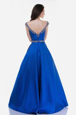 Style 2265 Nina Canacci Blue Size 14 Plus Size Prom Ball gown on Queenly