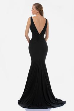 Style 2267 Nina Canacci Black Size 12 Backless Plunge Pageant Mermaid Dress on Queenly