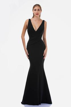 Style 2267 Nina Canacci Black Size 14 Backless Plunge Pageant Mermaid Dress on Queenly